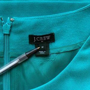 J. Crew Dresses - J Crew Jules Teal Shift Dress w Pockets 10